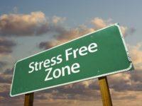 decompress-stress free zone sign