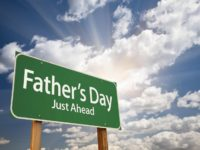 fathers day ahead sign